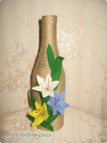 Цветочки из войлока