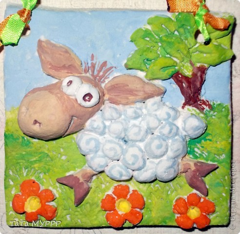 За лесом, у речки гуляют овечки и шерсть у овечек в забавных колечках.... фото 3