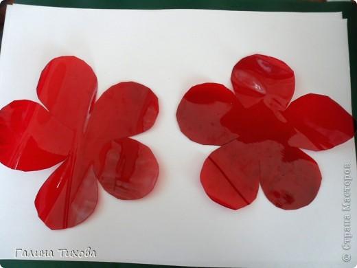 Эти маки сделаны из обычных пластиковых бутылок.  Мастер-класс: http://masterica.maxiwebsite.ru/archives/6084#more-6084 фото 3