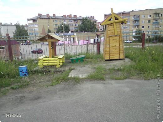 Просто хочу поделиться оформлением наших участков и оформлением клумб вокруг садика. Идеи не мои и сделаны даже не мною (я в отпуске была) Может быть кому то и пригодится ))) фото 16