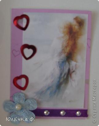 Здесь я буду размещать карточки,которые образовались вне серий.    №1 (цветы немного объёмны,к сожалению,не удалось сфотографировать) фото 3