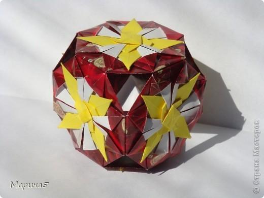 Всем здравствуйте! Эти кусудамы из книги Origami Kusudama - Tomoko Fuse. фото 7