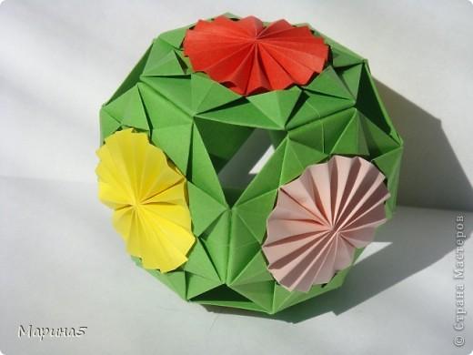 Всем здравствуйте! Эти кусудамы из книги Origami Kusudama - Tomoko Fuse. фото 8