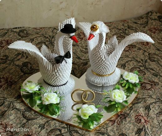 Свадебные лебеди оригами мастер класс - Master class