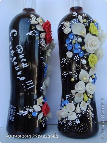 Подарки в День рождения сестры и снохи. Обе родились в начале августа. Подарочные бутылочки готовились одновременно. фото 7