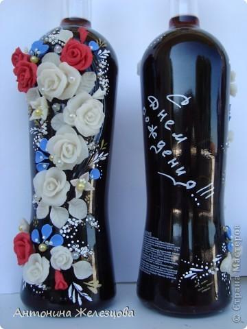 Подарки в День рождения сестры и снохи. Обе родились в начале августа. Подарочные бутылочки готовились одновременно. фото 8