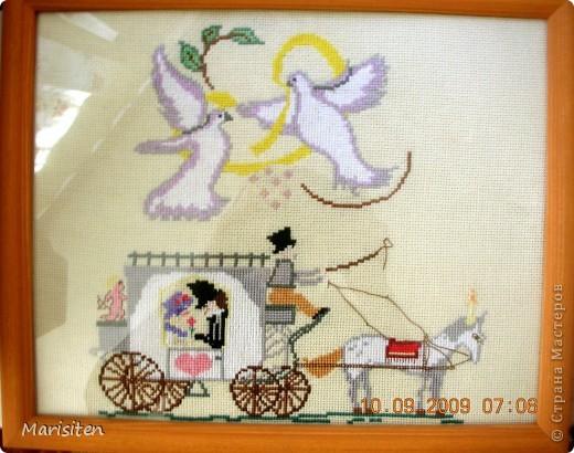 Свадебная вышивка крестом фото 1
