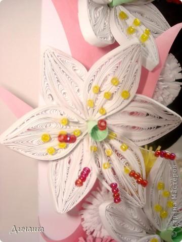 На этот раз прямоугольная рамочка с лилиями для свадебного фото. фото 4