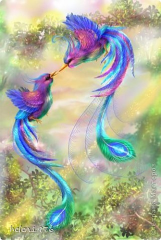 """Понравилась работа Ларисы Анатольевны """"Цветущий персик"""",  http://stranamasterov.ru/node/182301 , захотелось повторить, да и повод подвернулся - у мамы день рождения! фото 7"""