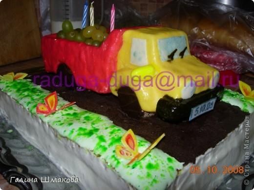 """Сынуле на день рождения...мой первый """"особый"""" тортик фото 1"""