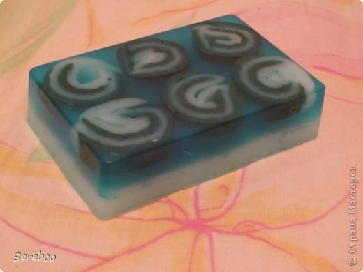 Мыло из основы с добавлением масел (авокадо, макадамский орех, виноградной косточки, жожоба и персиковое масло ) и голубой глины, аромат свежий воздух. фото 1