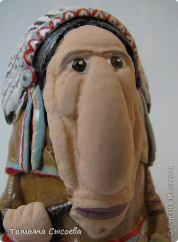 Индеец создан по мотивам картины Леонида Рослова.  фото 8