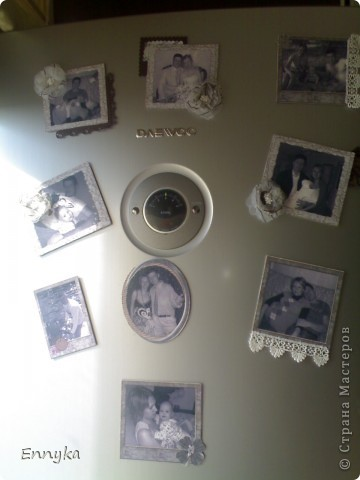 в подарок на день рождения   решила сделать  магниты на холодильник.  у друзей дома почему то не очень много фото  в рамках. ... фото 2