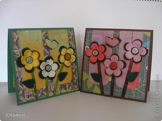 Здравствуйте! Сегодня я с цветочными открытками. Очень надеюсь, что вы не против подробностей их создания. ))) фото 1