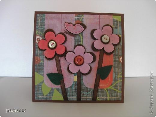 Здравствуйте! Сегодня я с цветочными открытками. Очень надеюсь, что вы не против подробностей их создания. ))) фото 9