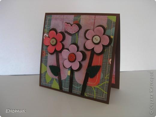Здравствуйте! Сегодня я с цветочными открытками. Очень надеюсь, что вы не против подробностей их создания. ))) фото 10