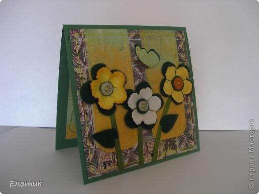 Здравствуйте! Сегодня я с цветочными открытками. Очень надеюсь, что вы не против подробностей их создания. ))) фото 12