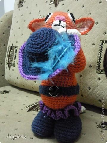 """Котик сделан по МК LIUVALENSIA, напоминает кота из мультфильма"""" Шрек"""", помните там был такой просящий. фото 2"""