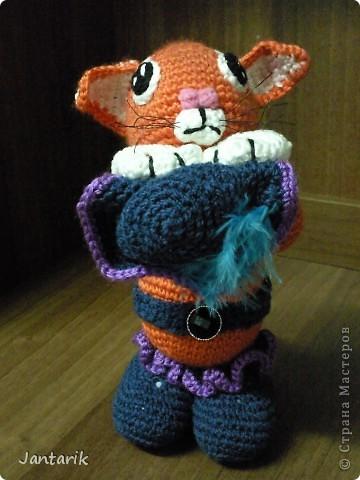 """Котик сделан по МК LIUVALENSIA, напоминает кота из мультфильма"""" Шрек"""", помните там был такой просящий. фото 7"""