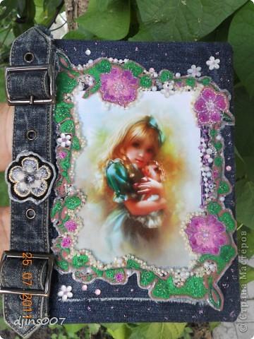 обложка на школьный дневник для дочери из старых джинсовых брюк