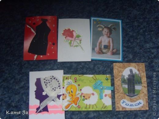 """Вот такая Красивая карточка пришла мне от мила4ка по сюрпризному АТС обмену. И ещё """"дама в синем"""", салфеточка и стразики!!! фото 2"""