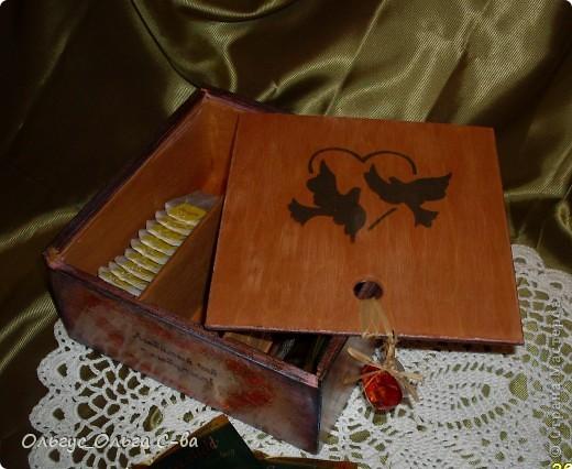 Увидела рисунок художника Xenopus с милым чаепитием котиков и родилась идея сделать с ними чайную коробку. фото 6