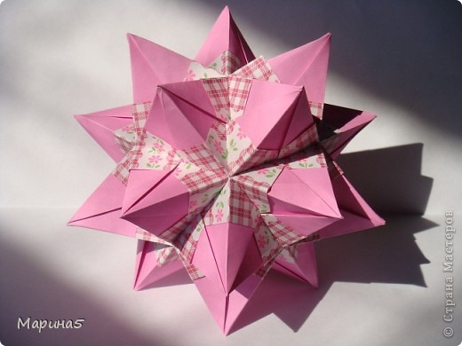 Trimodule by Nick Robinson МК http://www.nickrobinson.info/origami/diagrams/trimodule.htm  фото 1