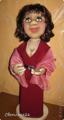 Делала эту куклу по фотографии. Высота около 50см. Полностью каркасная. фото 2