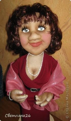 Делала эту куклу по фотографии. Высота около 50см. Полностью каркасная. фото 1