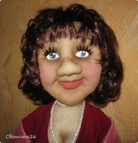 Делала эту куклу по фотографии. Высота около 50см. Полностью каркасная. фото 3