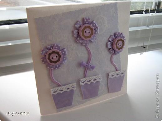 Вот такая милая и нежная получилась открыточка)) фото 1