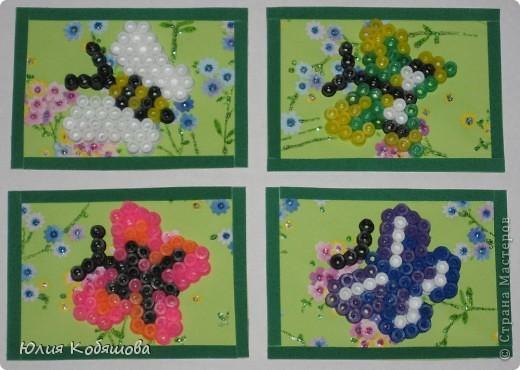 Новая серия АТСок. Бабочки выполнены из термомозаики.В первую очередь приглашаю тех, кому должна Юлечку (bagira1965), МаЮрку, Тинсанну. Если карточки не по душе, пожалуйста напишите. фото 1