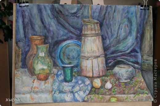 Первый рисунок акварелью фото 3