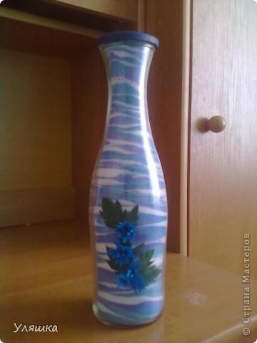 Вот такая бутылочка получилась у меня)) фото 1