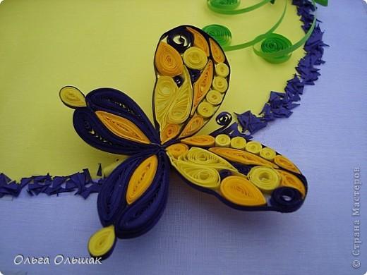 Дорогие мастерицы!На этот раз у меня родилась цветочная композиция   в фиолетово-жёлтых тонах. Наконец -то дождалась солнышка, перефотографировала работу.Это окончательный вариант.   фото 4