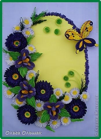 Дорогие мастерицы!На этот раз у меня родилась цветочная композиция   в фиолетово-жёлтых тонах. Наконец -то дождалась солнышка, перефотографировала работу.Это окончательный вариант.   фото 2
