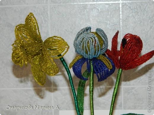 Очень мне нравиться плести цветы из бисера... фото 3