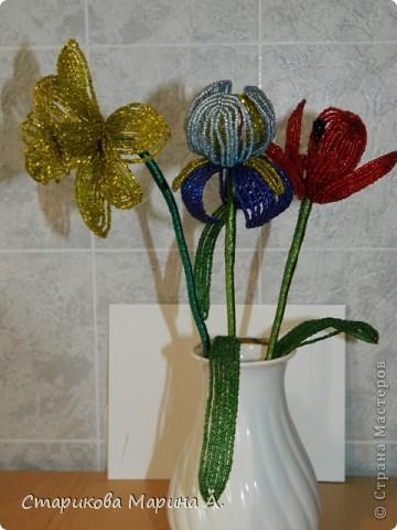 Очень мне нравиться плести цветы из бисера... фото 1