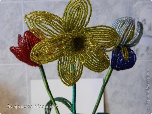 Очень мне нравиться плести цветы из бисера... фото 4
