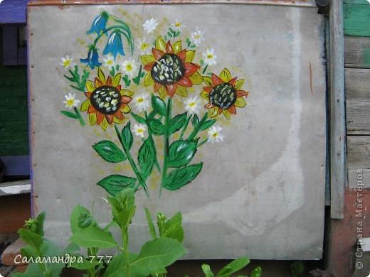 Выполнила домашнее задание по МК Галёны http://stranamasterov.ru/node/204900 . Получилась вот такая Африка! Рисовала как и африканцы на стене дома - на наружной стене веранды. фото 3