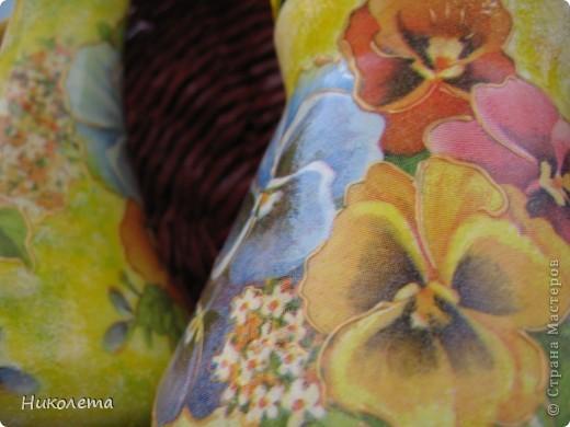 Вот еще один декупажно-плетеный набор сделала в подарок фото 8