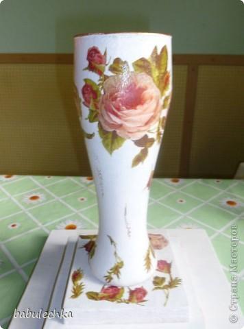 Вазочка Английские розы и немного шебби... фото 1