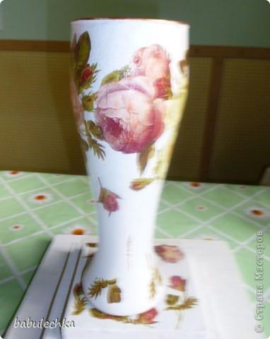 Вазочка Английские розы и немного шебби... фото 2