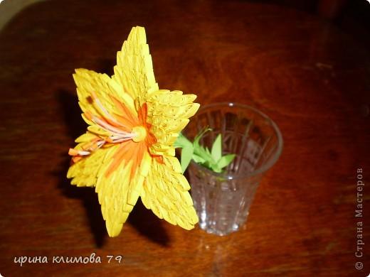 насмотрелась на красивые лилии и решила попробовать сделать такой цветочек. фото 1