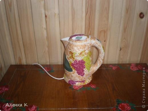 Я все продолжаю украшать свою любимую дачку - баню.Представляю Вашему вниманию электрический чайник.  фото 1