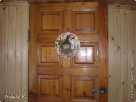 """Уж очень я люблю свою дачку - баньку! Все не могу остановиться - украшаю и украшаю... Это железная дверь """"Котики"""". фото 2"""