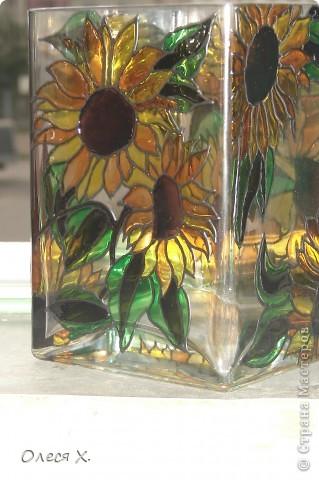 Вот еще одна вазочка. Я влюбилась в витраж)))) фото 1