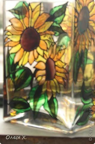 Вот еще одна вазочка. Я влюбилась в витраж)))) фото 2