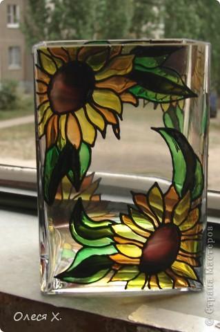 Вот еще одна вазочка. Я влюбилась в витраж)))) фото 3