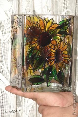 Вот еще одна вазочка. Я влюбилась в витраж)))) фото 9